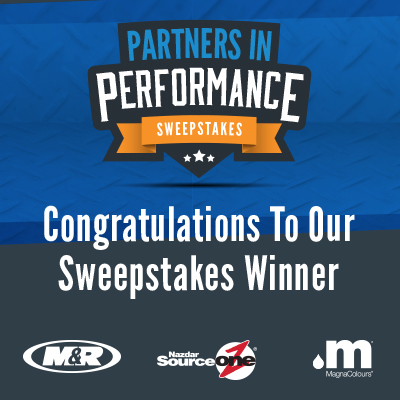 Nazdar SourceOne Announces Partners In Performance Sweepstakes Winner