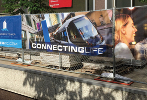 Temporary Banners Announce Kansas City Streetcar