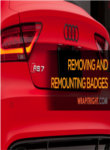 Removing and Remounting Badges