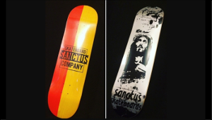 "Nazdar Ink always ""On Deck"" for Sanctus Skateboards"