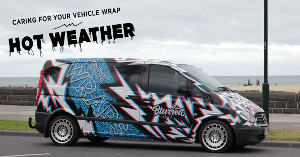 Caring for Your Vehicle Wrap in Hot Weather