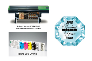 "Roland DGA Wins Two SGIA 2018 ""Product of the Year"" Awards"