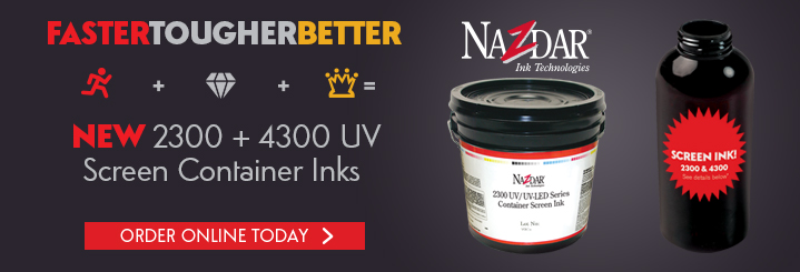 Nazdar 2300/4300 UV Container Screen Inks