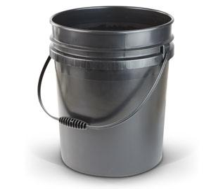 5 Gallon Container - Black Plastic