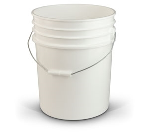 5 Gallon Container - White Plastic