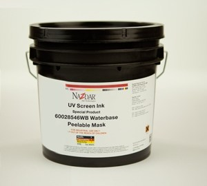 Waterbase Peelable Mask Screen Inks - Clear