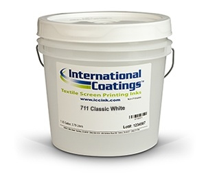International Coatings Plastisol White Inks - 711 Classic White
