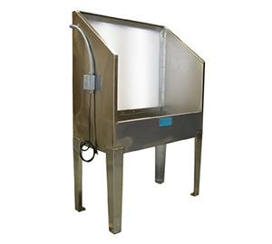 4' x 4' Stainless Steel Backlit Washout Booth