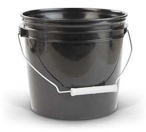 Gallon Container - Black Plastic