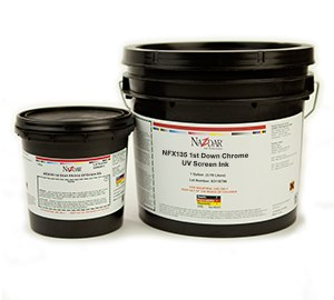 NFX135 1st Down Silver UV Screen Ink