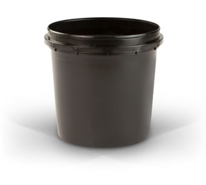 Quart Container - Black Plastic