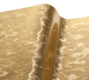 VinylEfx Printable Metalized Vinyl - Durable Florentine Leaf Gold