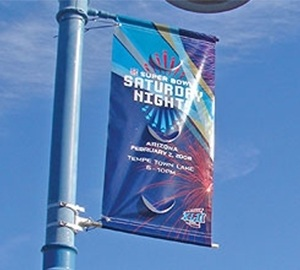 Pole Banner Pro Block Out 18oz Banner