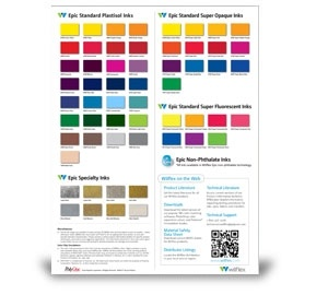 Epic Standard Plastisol Inks Color Card