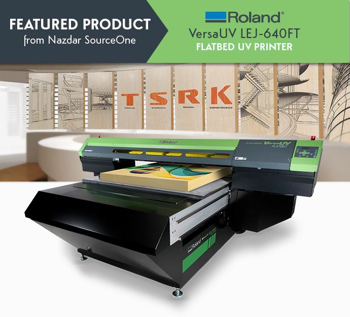 Roland VersaUV LEJ-640FT Flatbed UV Printer - Nazdar SourceOne